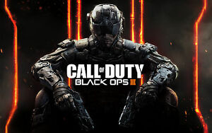 CALL OF DUTY BLACK OPS III Gaming Poster Wall Art Sizes A4 to A0 UK Seller E043