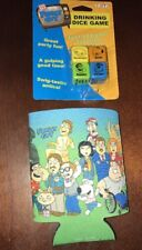 FAMILY GUY CAN COOLER KOOZIE HUGGIE & DRINKING DICE GAME
