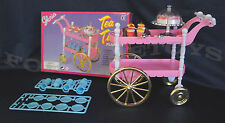 GLORIA FURNITURE SIZE TEA TIME CART SET W/Cake PLAYSET FOR BARBIE DOLLHOUSE