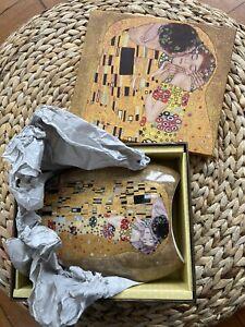 Gustav Klimt 'The Kiss' Art Deco Style Vase Brand NEW in Box Great Gift !