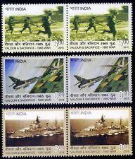 Valour & Sacrifice, 1965 India Pakistan War Soildiers, 2015 MNH 3v in Pair (K21)
