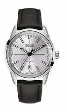 Bulova Accutron Men's 63B176 Accu Swiss Automatic Black Leather Strap 40mm Watch