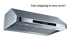 """CYBER® Seamless Stainless Steel Under Cabinet Range Hood 30""""Touch Panel 900 CFM"""