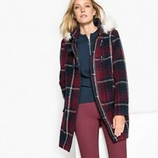 Checked Duffle Coat with Faux Fur Hood ,size 10 ,RPR: £89.00