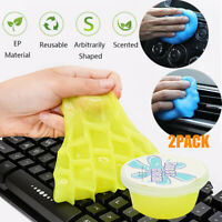 2PCS Magic Soft Sticky Clean Glue Slime Dust Dirt Cleaner Car Cleaning Supplies