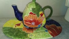 Style Eyes By Baum Bros Red Poppy Collection Tea Pot