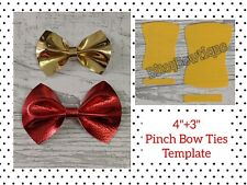 "🎀4"" + 3""  Pinch Bow Ties Plastic Templates 🎀"