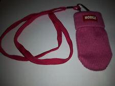 Chaussette Housse Pochette pour Téléphone Portable MP3 MP4 rouge mobile