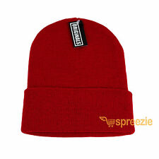 Red Beanie Plain Knit Ski Hat Skull Cap Cuff Warm Winter Blank Unisex New 990f75d1854c