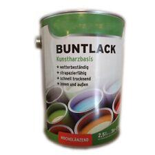 2 x 2,5 L Wilckens Buntlack Kunstharzbasis innen/außen Hochglänzend 5 L Farbwahl