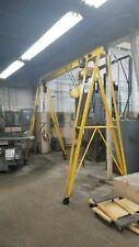 1 Ton Portable A-Frame Gantry Crane 1 ph Budgit Roller Chain Hoist, 127'' Span