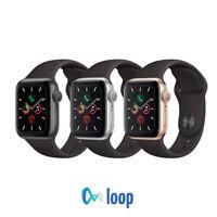 Apple Watch Series 5 Aluminum - 40mm 44mm - GPS  - Black Sport Band