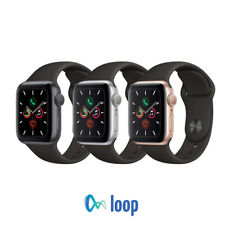 Apple Watch Series 5 Aluminum - 40mm 44mm - GPS  - Black Sport Band