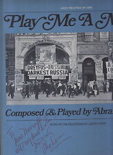 play me a movie composed & played by abraham lass lp signed
