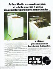PUBLICITE ADVERTISING 106  1973  Arthur Martin machine à laver lave linge   chat