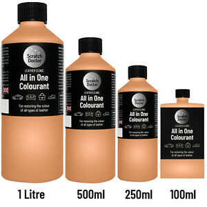 ALL IN ONE TAN Leather Colourant. Repair & Recolour. Dye Stain Paint Colour