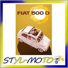 FIBL20 FIAT 500 CARTOLINA IN LATTA CM 15X21 SOLE/FIAT UFFICIALE ORIGINALE