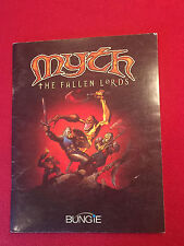 Myth The Fallen Lords Bungie User's Manual Game Guide Game Book Nice
