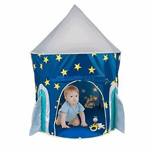 FoxPrint Rocket Ship Play Tent with Carrying Case, with Glow in The Dark Stars