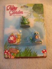 New listing Fairy Garden Mini Figures 3 Piece Set Frog/Snail/Turtle Nib