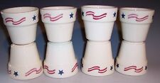 Votive Candle Holders Patriotic Design Set/8 USA!