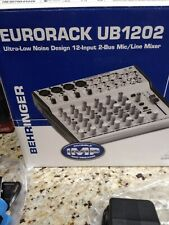 Behringer Mixer Ub1202 Eurorack With Power Supply And Channel Master Rotator