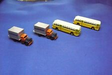 N scale Classic Metal Works .  Roadway trucks and Shore Line buses.  USED