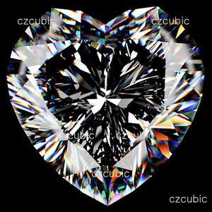 CUBIC ZIRCONIA/CZ SUPER QUALITY LOOSE HEART SHAPE  CLEAR WHITE CZ U.S SHIPPER