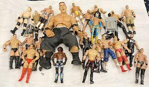 USED BUNDLE 20 X WWE Mattel & JAKKS action figure BASIC toy Wrestling loose PLAY