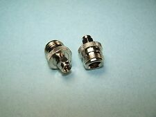2 COAX ADAPTERS SMA MALE TO TYPE N FEMALE RF CONNECTOR NEW