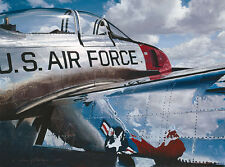 William Phillips AIR FORCE REFLECTIONS, giclee canvas, Fighter Jet, T-28A  #2/45