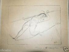 AUBERJONOIS René ECOLE SUISSE rare Lithographie originale signee /crayon -cirque