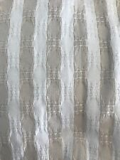 Threshold Cotton Shower Curtain NWOT Cream And White Stripes