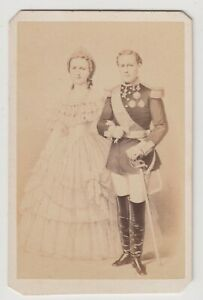 Royal CDV-Luís I and Maria Pia of Savoy, King and Queen of Portugal