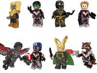 Avengers Endgame Thor Loki Thanos Hulk Hawkeye Captain America Building Blocks