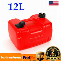 Portable Boat Fuel Tank 3 Gallon Marine Outboard Fuel Tank W/ male Connector USA