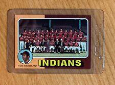 1975 TOPPS SET BREAK   #331 CLEVELAND INDIANS TEAM