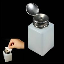 Empty Bottle Pump Dispenser For Liquid Nail Art Polish Remover Acetone Nail Tool