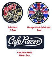 Vintage British Cafe Racer biker badges Iron or Sew on Embroidered Patch
