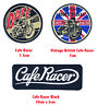Vintage British Cafe Racer biker badges Iron or Sew on Embroidered Patch