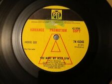 JACKIE  LEE . YOU MAKE MY HEAD SPIN  . 1973  RARE PROMOTIONAL ISSUE  PYE RECORDS