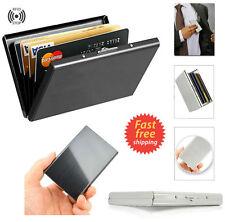 Metal Carbon Fibra Cartera de hombre Tarjetero Billetera RFID Blocking Clip SA