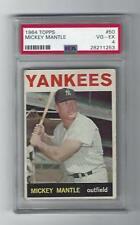 Mickey Mantle 1964 Topps Card, # 50, PSA  VG / EX - 4, New York Yankees