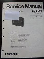 Original Service Manual Panasonic RQ-P205