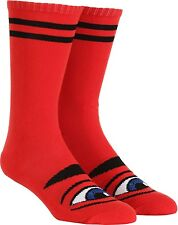 Toy Machine Sect Eye Girls Knee-High Skateboard Socks Red