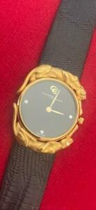 Carrera Y Carrera 18K Gold Ladies Panther Watch w Diamond panther eyes & markers