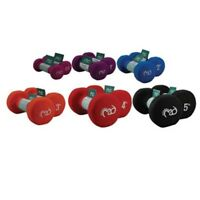 Home Gym Fitness Neoprene Dumbbells Hand Weights Pack - Aerobics Exercise Bundle