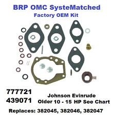 Johnson Evinrude BRP Carburetor Carb Rebuild Kit 10 - 15 HP 439071 See Chart
