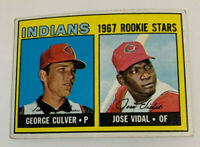 1967 George Culver Cleveland Indians Rookie Stars RC # 499 Topps Baseball Card
