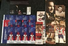 Huge Lot Montreal Canadiens Full Tickets & Stubs NHL